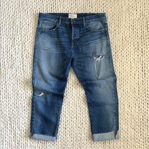 Current / Elliott Unisex Ripped Boyfriend Jeans